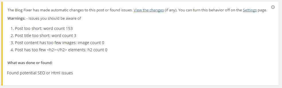 SEO Issues Found